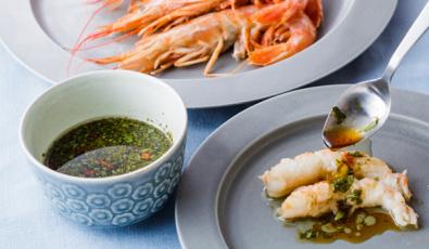 Аппетитная креветка в японской кухне
